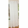 White Window Panel with Tulle Ruffle Accents Set of 2