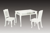 White Windsor Rectangular Table with 2 Chairs Set