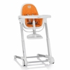 White Zuma Highchair - Orange