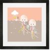 Wiggle Jiggle Jellies Framed Art Print