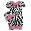 Wild Child Zebra Rose Gown Set