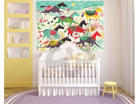 Wild Horses Mural Wall Decal