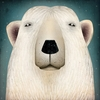 Wild Polar Bear Canvas Reproduction