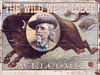 Wild West Lodge Vintage Wood Sign