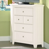 Willow Run Linen Media Corner Chest