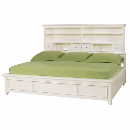 Willow Run Linen Sideways Platform Bed