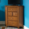 Willow Run Toffee Media Corner Chest