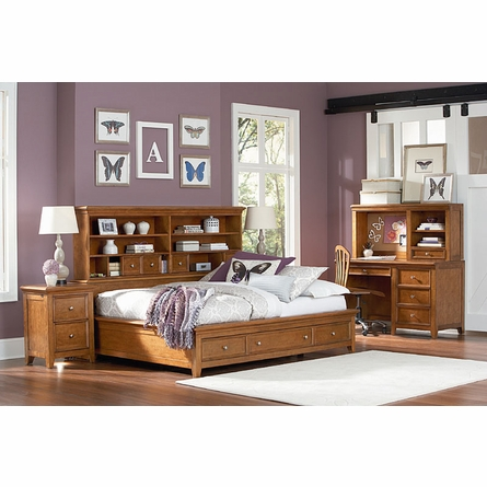 Willow Run Toffee Sideways Platform Bed