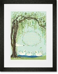 Willow Swans Framed Art Print