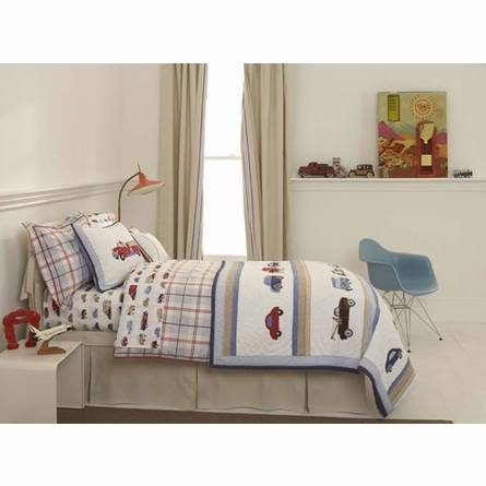 Windowpane Plaid Twin Duvet Cover