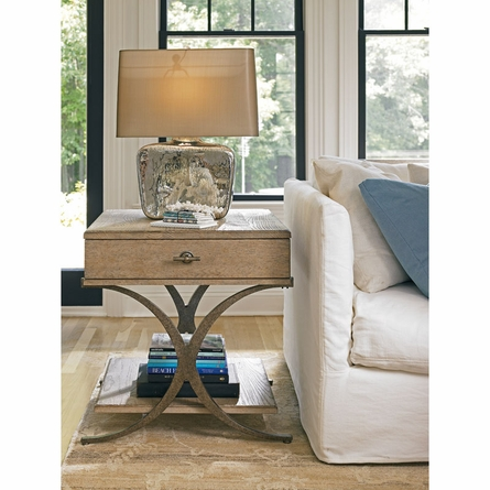 Windward Dune End Table in Weathered Pier