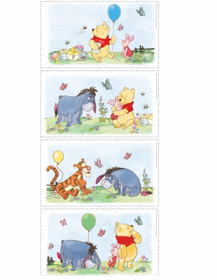 Winnie the Pooh Panel Peel & Stick Wall Decals
