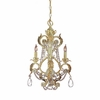 Winslow Three Light Optical Crystal Champagne Mini Chandelier