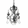 Winslow Three Light Optical Crystal Dark Rust Mini Chandelier