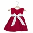 Winter Princess Corduroy Dress in Red with White Sash