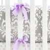 Wisteria Crib Bumper with Lavender Trim