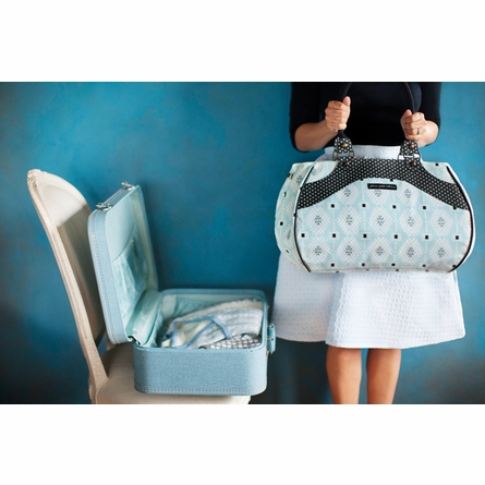 Wistful Weekender Diaper Bag - London Mist