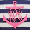 Wood Anchor Script Wall Monogram