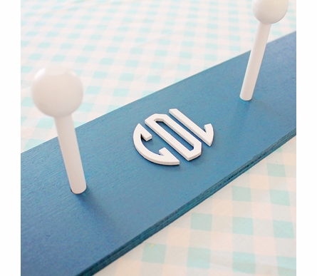 Wood Circle Monogram Coat Rack