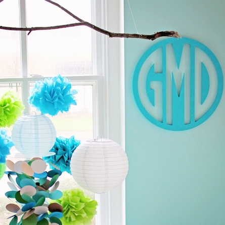 Wood Circle Wall Monogram