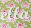 Wood Cursive Connected Wall Letters