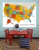Wood Grain US Map Mural Wall Decal