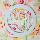 Wood Scalloped Wall Monogram