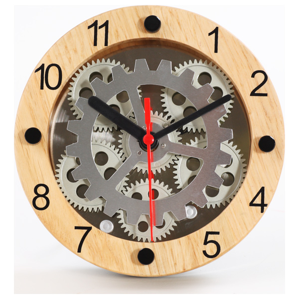 Wooden Moving Gear Clock   RosenberryRooms com
