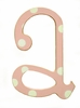 Wooden Polka Dot Letters in Pink