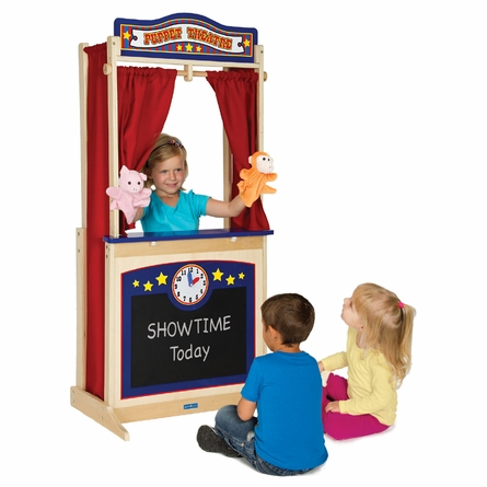 Wooden Pretend Floor Theater