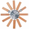 Wooden Slat Wall Clock