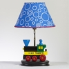 Wooden Train Lamp
