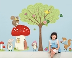 Woodland Animal Friends Peel & Place Wall Stickers