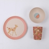 Woodland Critters Bamboo Dinner Set