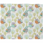 Woodland Fleece Throw Blanket