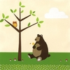Woodland Friends Cub Canvas Reproduction