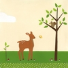 Woodland Friends Fawn Canvas Reproduction