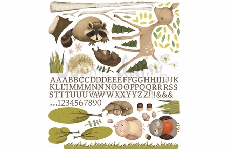 Woodland Friends Peel & Place Wall Stickers
