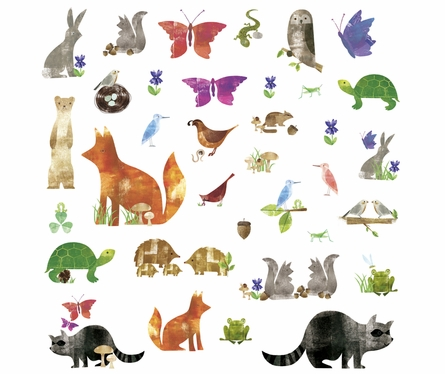 Woodland Friends Wall Decals