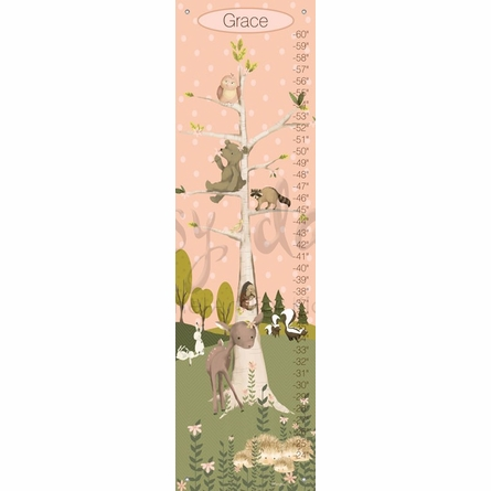 Woodland Pals Girl Growth Chart