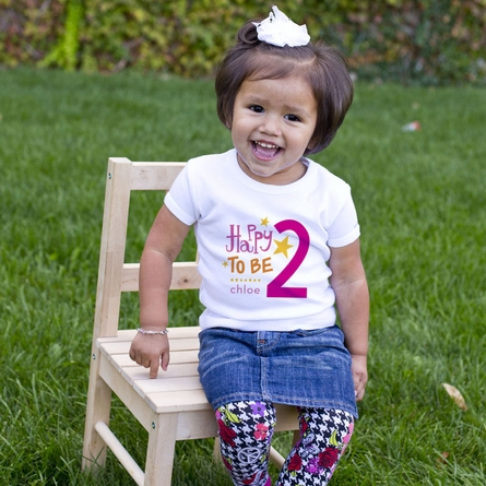 Woodland Party Girl Personalized T-Shirt