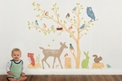 Woodland Scene Earthy Fabric Wall Decals