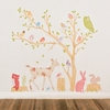 Woodland Scene Girly Fabric Wall Decals