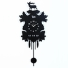 Woodland Silhouette Metal Wall Clock