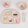 Woodland Tea Party 5 Piece Bamboo Dinner Set