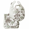 Woodland Tumble Mocha Bibs and Burp Cloth Set