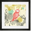 Woodland Wonderland Owl Framed Art Print