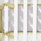 Woodlands Deer Crib Bumper