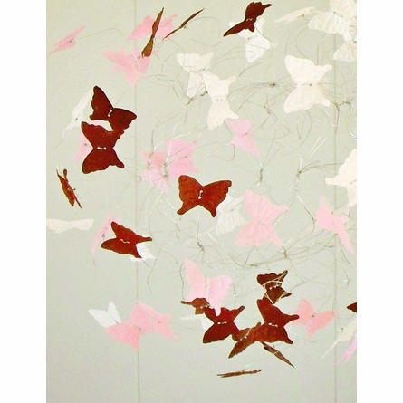 Woodlands Pink and Brown Butterfly Mobile
