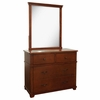 Woodridge 4 Drawer Chest with Mirror in Chestnut
